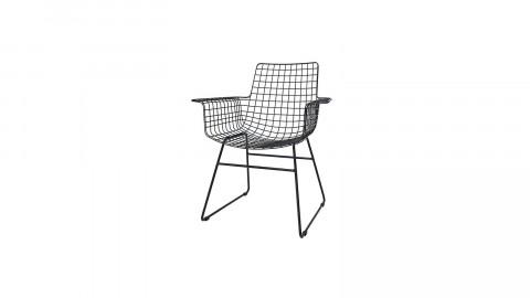 Lot de 2 fauteuils en métal noir - HK Living