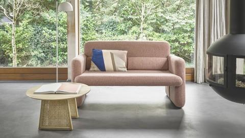 Canapé 2 places en tissu rose - HK Living