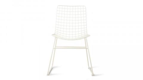Lot de 2 chaises en métal crème - HK Living