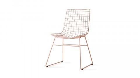 Lot de 2 chaises en métal pêche - HK Living