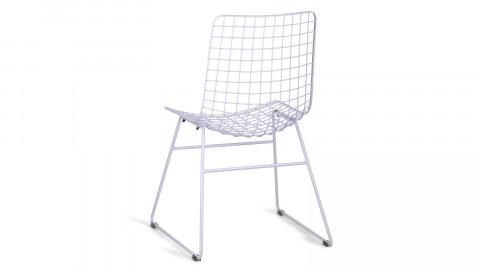 Lot de 2 chaises en métal lilas - HK Living