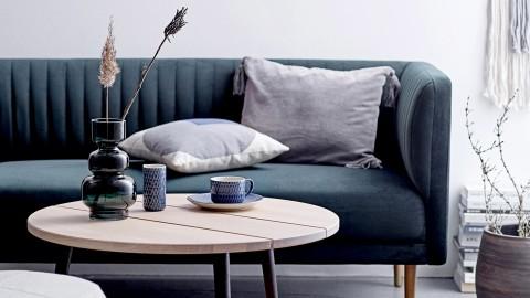 Canapé 2 places en velours vert - Collection Nolan - Bloomingville