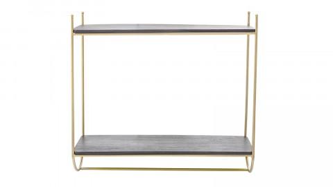 Etagère en métal doré et manguier - Collection Carly - Bloomingville