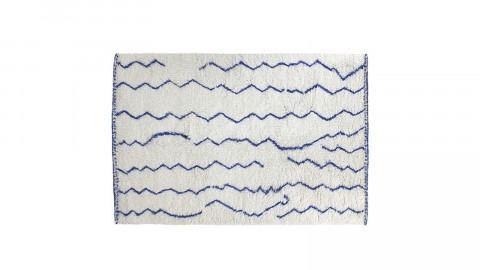 Tapis berbère en laine motif bleu cobalt 180x280cm - HK Living