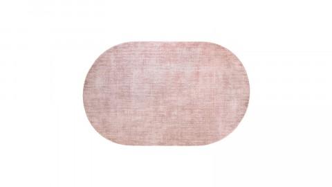 Tapis ovale en viscose rose - HK Living