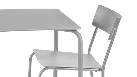 Table carrée en aluminium vert eucalyptus - Collection August - Serax