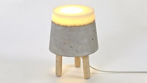Lampe de table en béton et bois taille S - Serax
