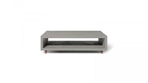 Table basse rectangulaire en béton sur roulettes - Collection Monobloc - Lyon Beton