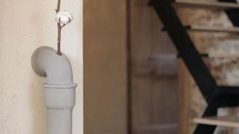Soliflore pipeline L en béton - Collection Urban garden - Lyon Beton