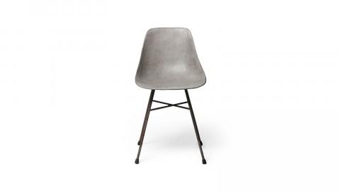Chaise scandinave en béton piètement en fer - Collection Hauteville - Lyon Beton