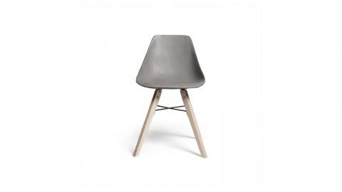 Chaise scandinave en béton piètement en bois - Collection Hauteville - Lyon Beton