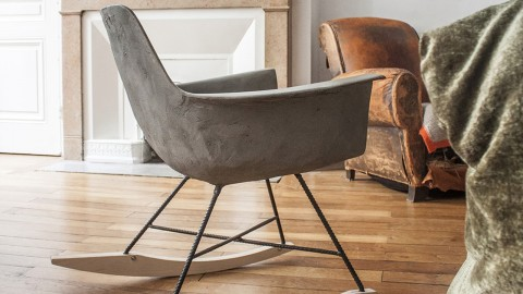 Rocking chair en béton - Collection Hauteville - Lyon Beton