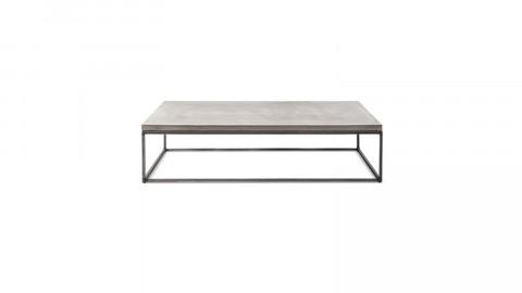 Table basse rectangulaire en béton piètement en métal - Collection Perspective - Lyon Beton