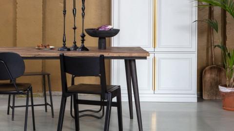 Table à manger en bois naturel piètement en métal noir - Collection Guild - BePureHome