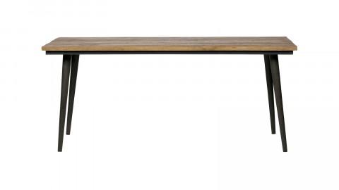Table à manger 220 cm en bois naturel piètement en métal noir - Collection Guild - BePureHome