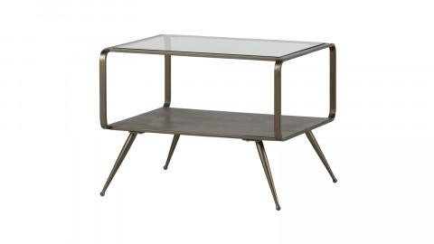 Table d'appoint en métal doré et verre - Collection Fancy - BePureHome