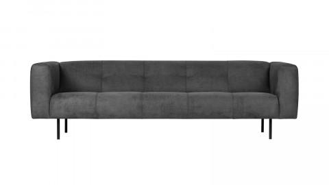 Canapé 4 places en simili cuir gris foncé - Collection Skin - Vtwonen