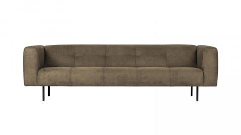 Canapé 4 places en simili cuir vert olive - Collection Skin - Vtwonen