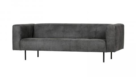 Canapé 2,5 places en simili cuir gris foncé - Collection Skin - Vtwonen