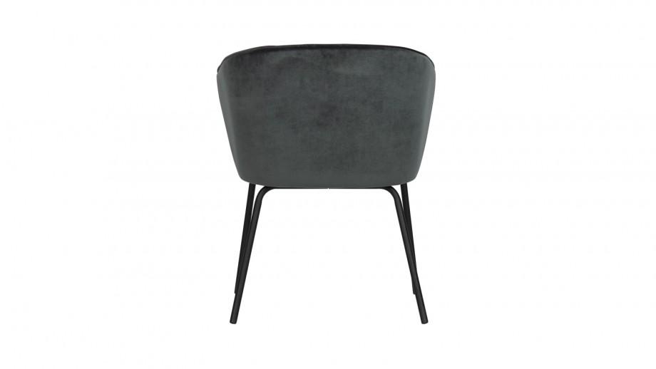 Lot de 2 chaises en velours bleu - Collection Admit - BePureHome