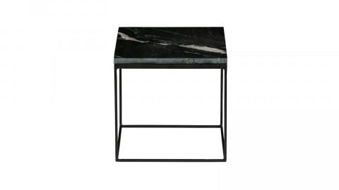 Lot de 2 tables gigognes carrées en marbre et métal noir - Collection Rodeo - BePureHome