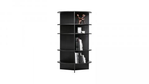 Bibliothèque ronde en bois noir - Collection Trian - Woood