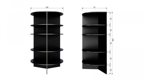 Bibliothèque en bois noir - Collection Trian - Woood