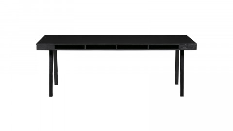 Table à manger en bois noir piètement A en métal noir - Collection Trian - Woood