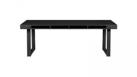 Table à manger en bois noir piètement U en métal noir - Collection Trian - Woood
