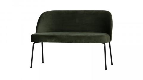 Banc en velours vert piètement en métal noir - Collection Vogue - BePureHome