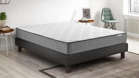 Ensemble matelas mémoire de forme + sommier 90x190 Ergo Confort Hbedding - 7 zones de confort - épaisseur matelas 22cm