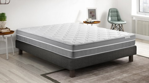 Ensemble matelas mémoire de forme + sommier 140x190 Hotel Confort Hbedding - 7 zones de confort - épaisseur matelas 25cm