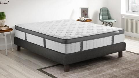Ensemble matelas mémoire de forme + sommier 140x190 Pur Confort Hbedding - 7 zones de confort - épaisseur matelas 25cm