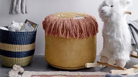Pouf rond pour enfant lion en coton - Bloomingville