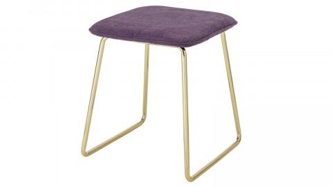 Lot de 2 tabourets en métal doré assise en tissu violet - Collection Cajsa - Bloomingville
