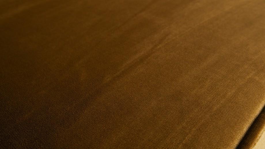 Canapé 3 places en velours jaune miel - Collection Rodeo - BePureHome