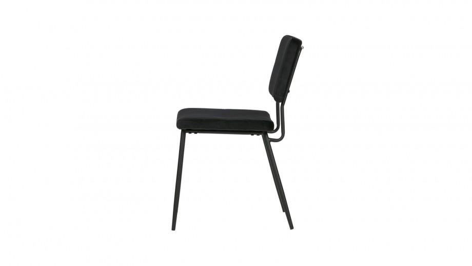 Lot de 2 chaises en velours noir - Collection Kaat - Woood