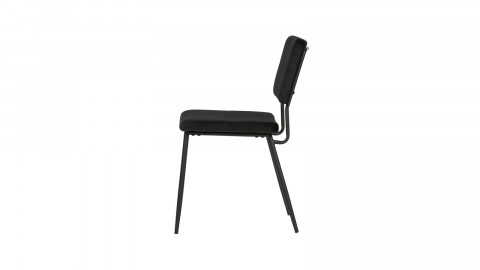 Lot de 2 chaises en velours noir - Collection Kaat - Woood