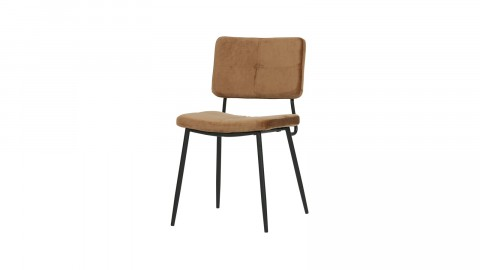 Lot de 2 chaises en velours Caramel - Collection Kaat - Woood