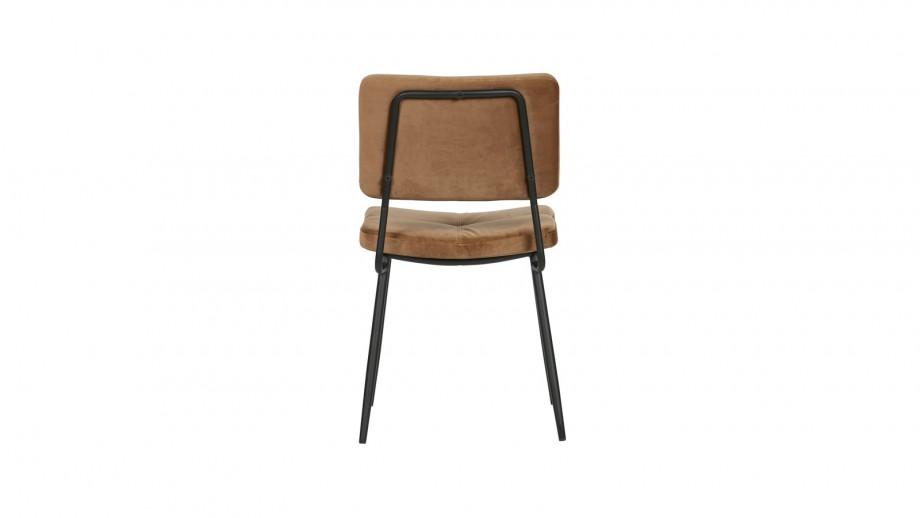 Lot de 2 chaises en velours Caramel - Collection Kaat - Woood