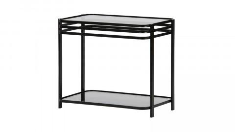 Table basse en verre et métal noir - Collection Kylie - Woood