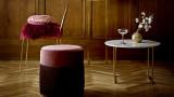 Table basse Ø60 cm avec plateau en marbre blanc et pieds en fer dorés - Bloomingville - Collection Eva