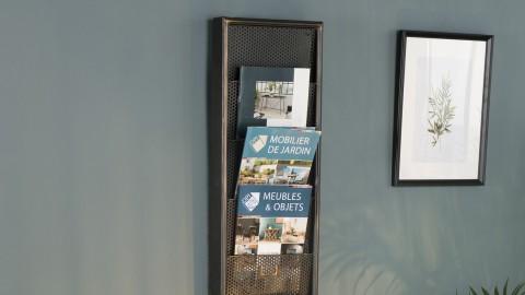 Range magazines 6 niveaux en métal - Collection Helena