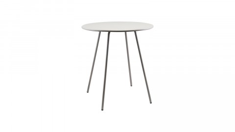 Table ronde Ø70cm en métal gris clair - Collection PI - House Doctor