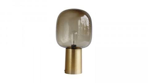 Lampe à poser en aluminium doré et verre - Collection Note - House Doctor