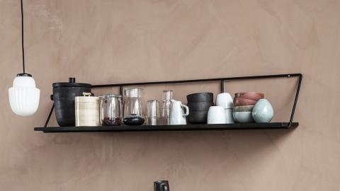 Etagère murale 130cm en manguier et métal noir - Collection Shelf - House Doctor