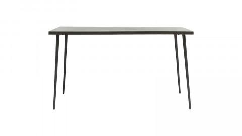 Table à manger rectangulaire 4 personnes en manguier piètement en métal noir - Collection Slated - House Doctor