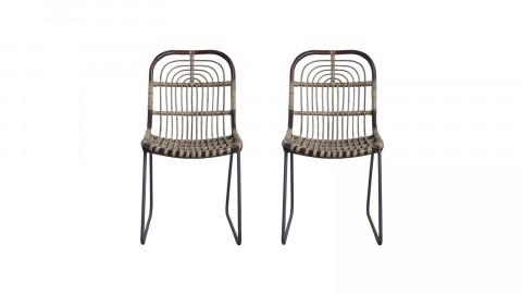 Lot de deux chaises en rotin - Collection Kawa - House Doctor
