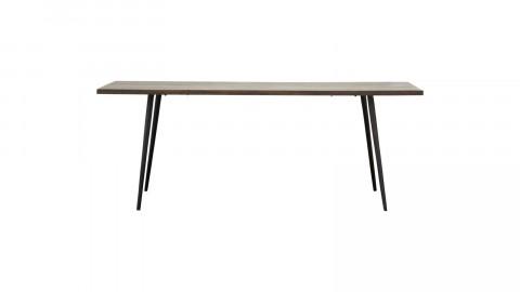 Table à manger rectangulaire 6 personnes en manguier foncé piètement en métal noir - Collection Club - House Doctor