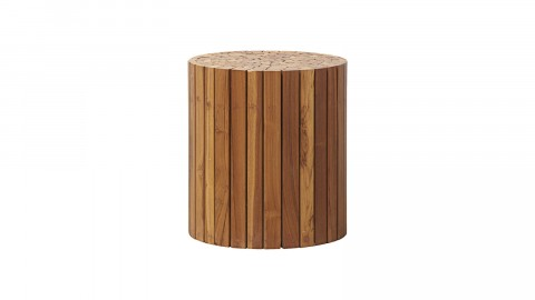Table d'appoint ronde en teck et acacia - Collection Teaky - House Doctor